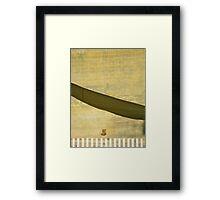 The little street dreams of the desert Framed Print
