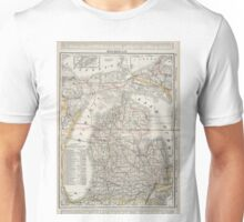 Vintage Map of Michigan (1901) 3 Unisex T-Shirt