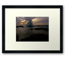 Southern Tidal Bore Framed Print