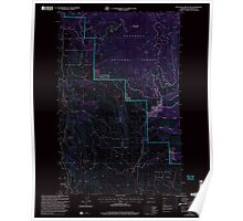 USGS Topo Map Washington State WA Blue Buck Mountain 240119 2001 24000 Inverted Poster