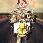Lambretta Girl by Smudgers Art
