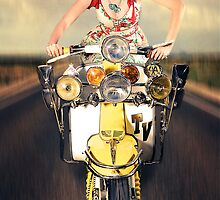 Lambretta Girl by Smudgers Art