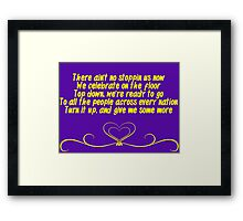 There Ain't No Stopping Us Now - Bayley NXT Framed Print