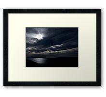 Blue Eyed Sky's White Framed Print
