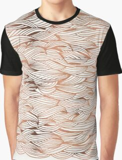 Rose Gold Waves Graphic T-Shirt