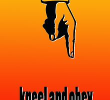 KNEEL AND OBEY by peter chebatte