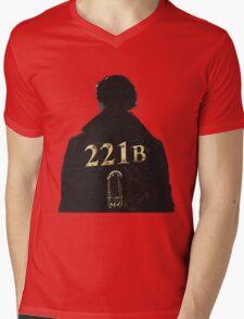 Sherlock 221B Mens V-Neck T-Shirt
