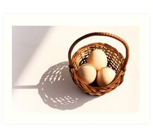 Egg Basket Art Print