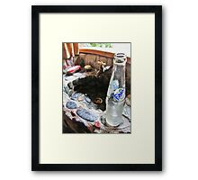 The Fanta And The Sink Framed Print