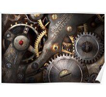 Steampunk - Gears - Horology Poster