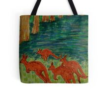 Kangaroos by the Flooded Forest Tote Bag