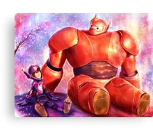 Big Hero 6 - Baymax and Hiro  Canvas Print
