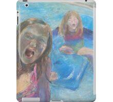 Girls Splashing in the Pool iPad Case/Skin