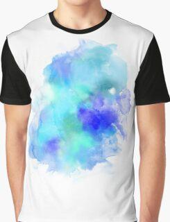 Blue Inkblot Spray  Graphic T-Shirt