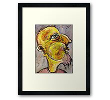 Caricature of a Wise Man Framed Print