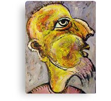Caricature of a Wise Man Canvas Print