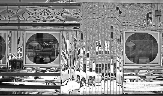 Diner in Black and White by marybedy
