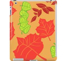 Autumn Leaves Printmaking Art iPad Case/Skin