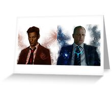 True detective - Rust Cohle and Martin Hart vol1 Greeting Card