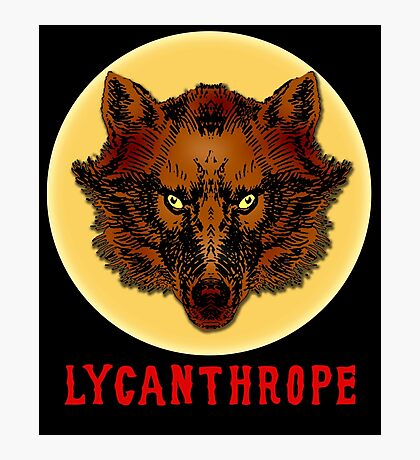 LYCANTHROPE (werewolf) with Full Moon Photographic Print