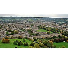 Bath from the Air.. Photographic Print