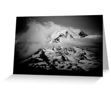 Rainier, high contrast Greeting Card