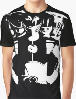 Mighty Morphin Power Rangers 2 Black/White Graphic T-Shirt