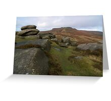 Burbage Moor Towards Higger Tor Greeting Card