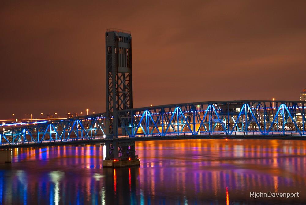 Jax Blue bridge  by RjohnDavenport