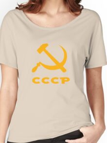 cccp russia communism  hammer and sickle Women's Relaxed Fit T-Shirt