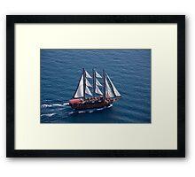 White Sails On the Aegean Framed Print