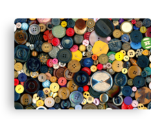 Sewing - Buttons - Bunch of Buttons Canvas Print