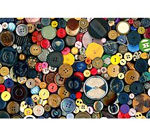 Sewing - Buttons - Bunch of Buttons Photographic Print