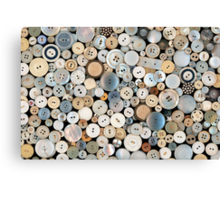 Sewing - Buttons - Lots of white buttons Canvas Print