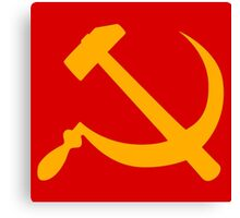 cccp russia communism  hammer and sickle Canvas Print