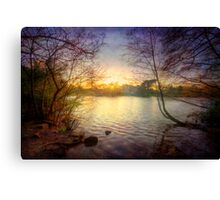 Across The Lake Canvas Print