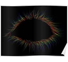 Rainbow Lashes on Black Poster