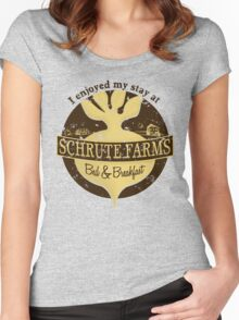 I enjoyed my stay at Schrute Farms (Brown) Women's Fitted Scoop T-Shirt