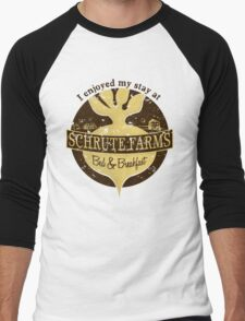 I enjoyed my stay at Schrute Farms (Brown) Men's Baseball ¾ T-Shirt