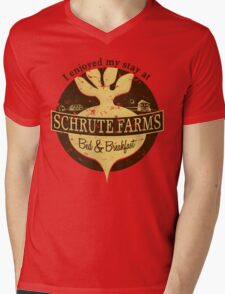 I enjoyed my stay at Schrute Farms (Brown) Mens V-Neck T-Shirt