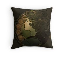 Medusa Nouveau - Print Throw Pillow