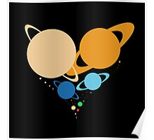 Solar System Heart (to scale) Poster