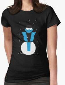 Subzero the Snowman Womens Fitted T-Shirt