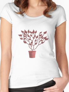 Tree Of Life - Red Women's Fitted Scoop T-Shirt