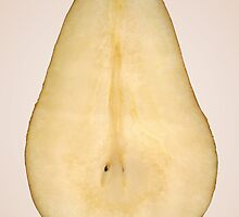 Food - Fruit - A slice of bosc pear by Mike  Savad