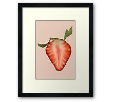 Food - Fruit - Slice of Strawberry Framed Print