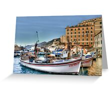 Camogli Boat Greeting Card