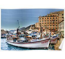 Camogli Boat Poster