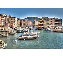 Camogli Port Photographic Print