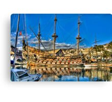 Old Port Galeone Canvas Print